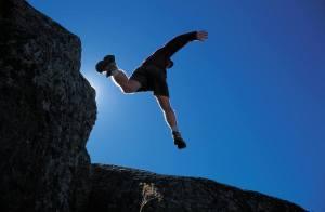 A daring leap