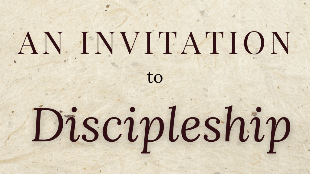invitation to discipleship title graphic