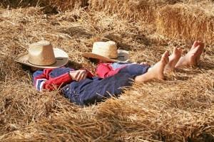 Farmers Asleep in the Hay