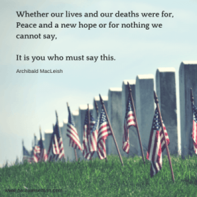 Whether our lives and our deaths were