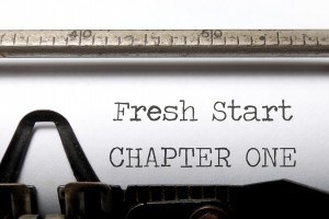 fresh start typed on page