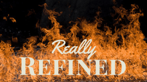 Really Refined text over flames