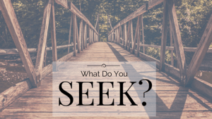 what do you seek