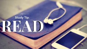 Study Tip- Read