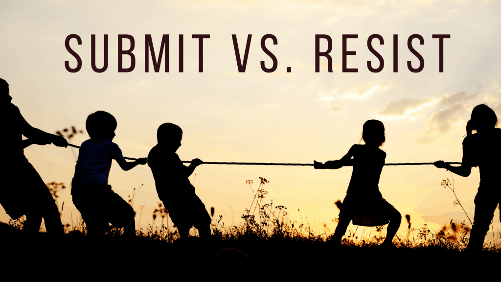 submit vs resist title graphic