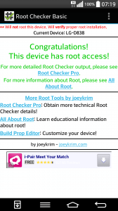 rooted LG D838