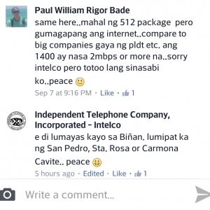intelco comment