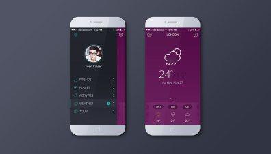 Weather app violet