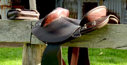 Half Breed saddles designed by Paul Buckland