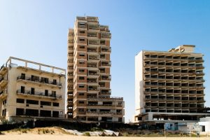 Hotels ruined by the conflict