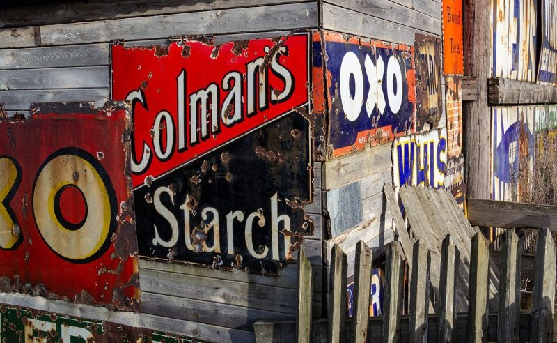 Old advertising signs