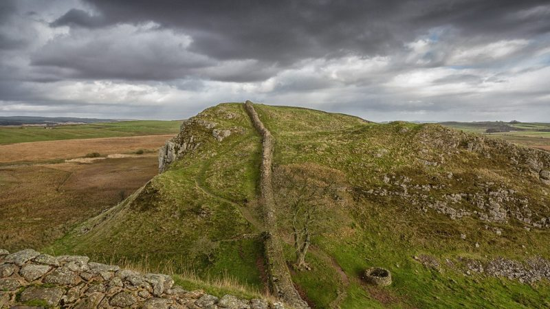 Looking along Hadrian's Wall