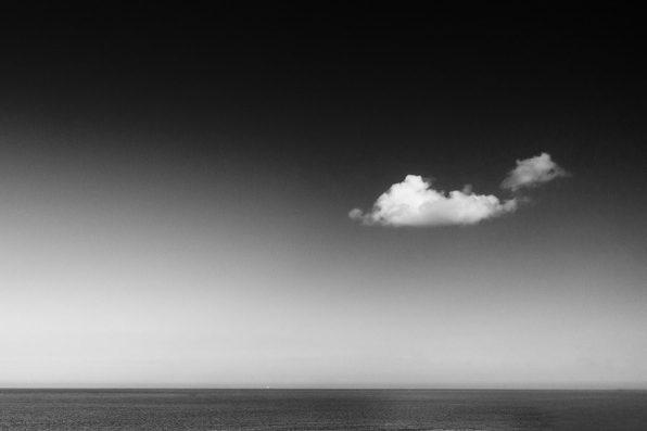 Boat on the horizon (mono)