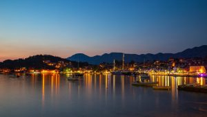 Cavtat at night