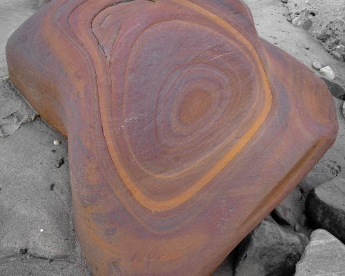 Africa shaped rock, Whitby