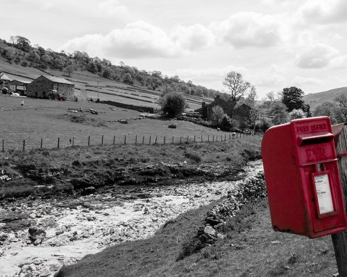 Postbox in Yorkshire Dales