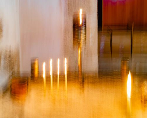 Candles in the monastery Ayia Napa (ICM)