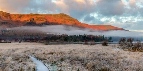 Frosty Path, Borrowdale