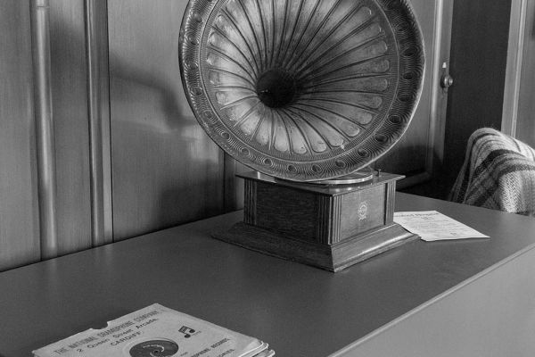 Old Gramophone and records