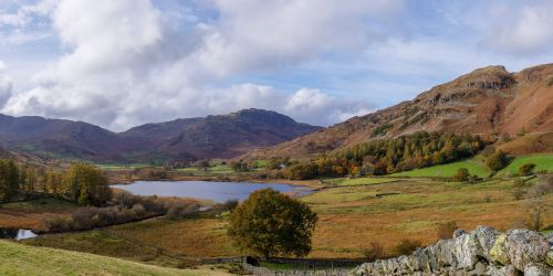 Panoramic View of Little Langdale Tarn