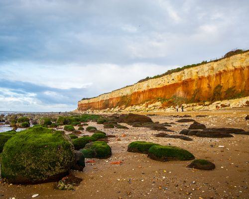 Red and white cliffs