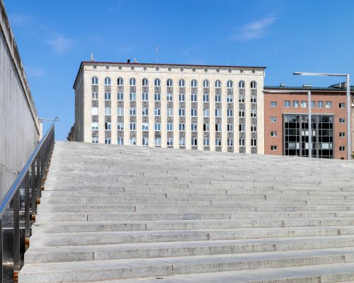 Steps to Freedom Square, Tallinn, Estonia