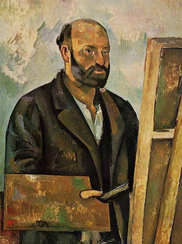 Self Portrait With Palette 1885 By Paul Cezanne