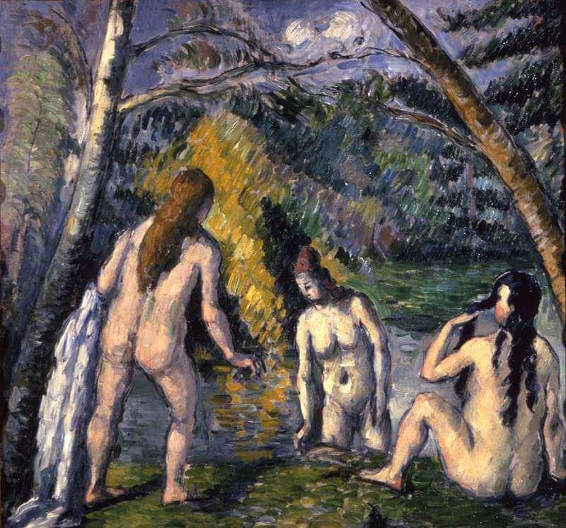 Three Bathers, 1879-82 by Paul Cezanne