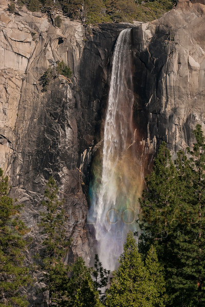 © Paul Conrad/Pablo Conrad Photography - The late afternoon Sun creates a rainbow in the mist of Bridalveil Falls in Yosemite Valley in Yosemite National Park, Calif., on Thursday Mar. 5, 2015.
