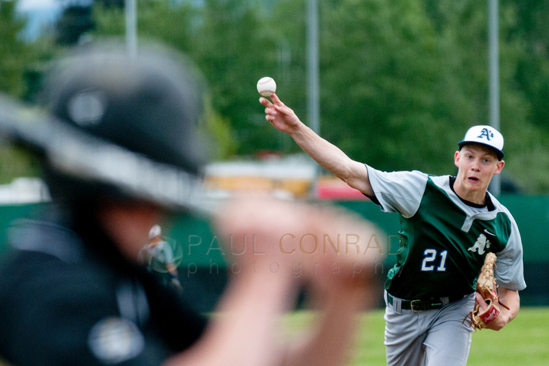 © Paul Conrad/The Bellingham Herald - Life Christian Academy senior pitcher Taylor Roelofs goes against Meridian High School during the second inning on Saturday afternoon May 17, 2014, in the 2014 Tri-District 1A Baseball Tournament at Meridian High School in Laurel, Wash. Life Christian defeated Meridian 3-1 to advance.