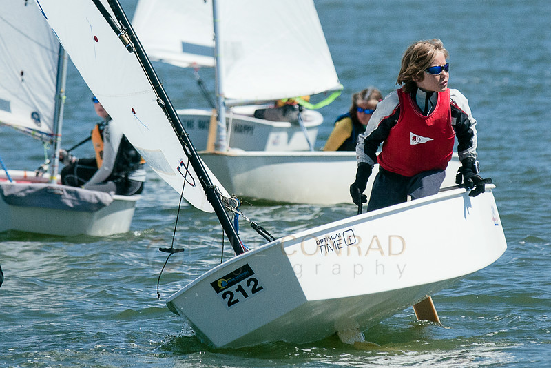 © Paul Conrad/The Bellingham Herald - Casey Pickett looks for an open spot as he finishes a rolling tack during the annual Bellingham Youth Regatta on Saturday afternoon August 9, 2014, on Bellingham Bay in Bellingham, Wash. Dozens of youth from ages 6 and up raced in 5 categories.