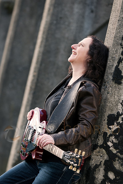 Blues guitarist Jill Newman for her new album at Gasworks Park in Seattle, Wash., on Saturday afternoon Feb. 1, 2014.