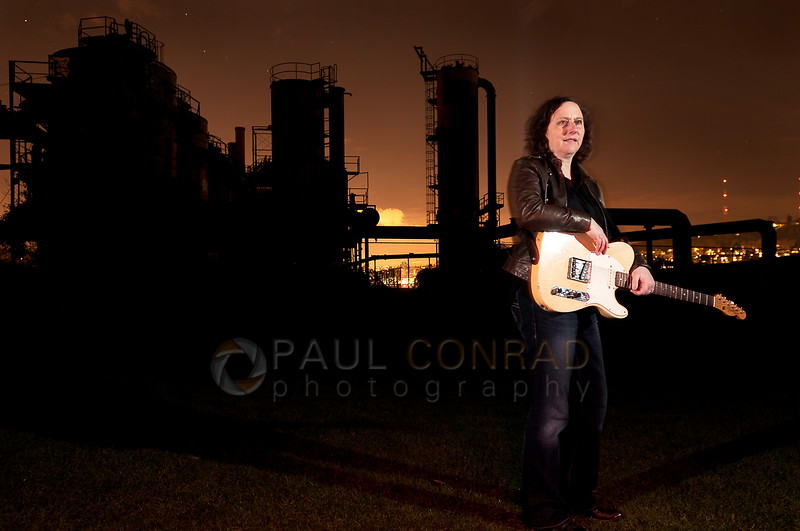 © Paul Conrad/Pablo Conrad Photography - Blues guitarist Jill Newman for her new album at Gasworks Park in Seattle, Wash., on Saturday afternoon Feb. 1, 2014.