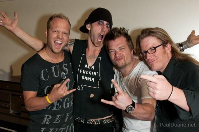 Guitarist from BLB, Matt from Pop Evil, Derek from BLB, FUPD.