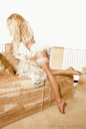 Pamela Anderson stockings thigh high hosiery