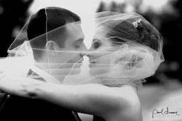 black and white wedding photo bride and groom Denver