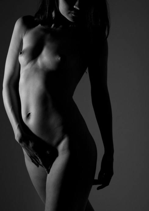 black and white art nude woman figure
