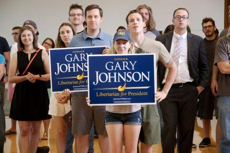 Millenials supporting Gary Johnson for President