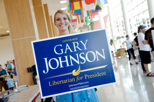 Millenialls supporting Libertarian Gary Johnson