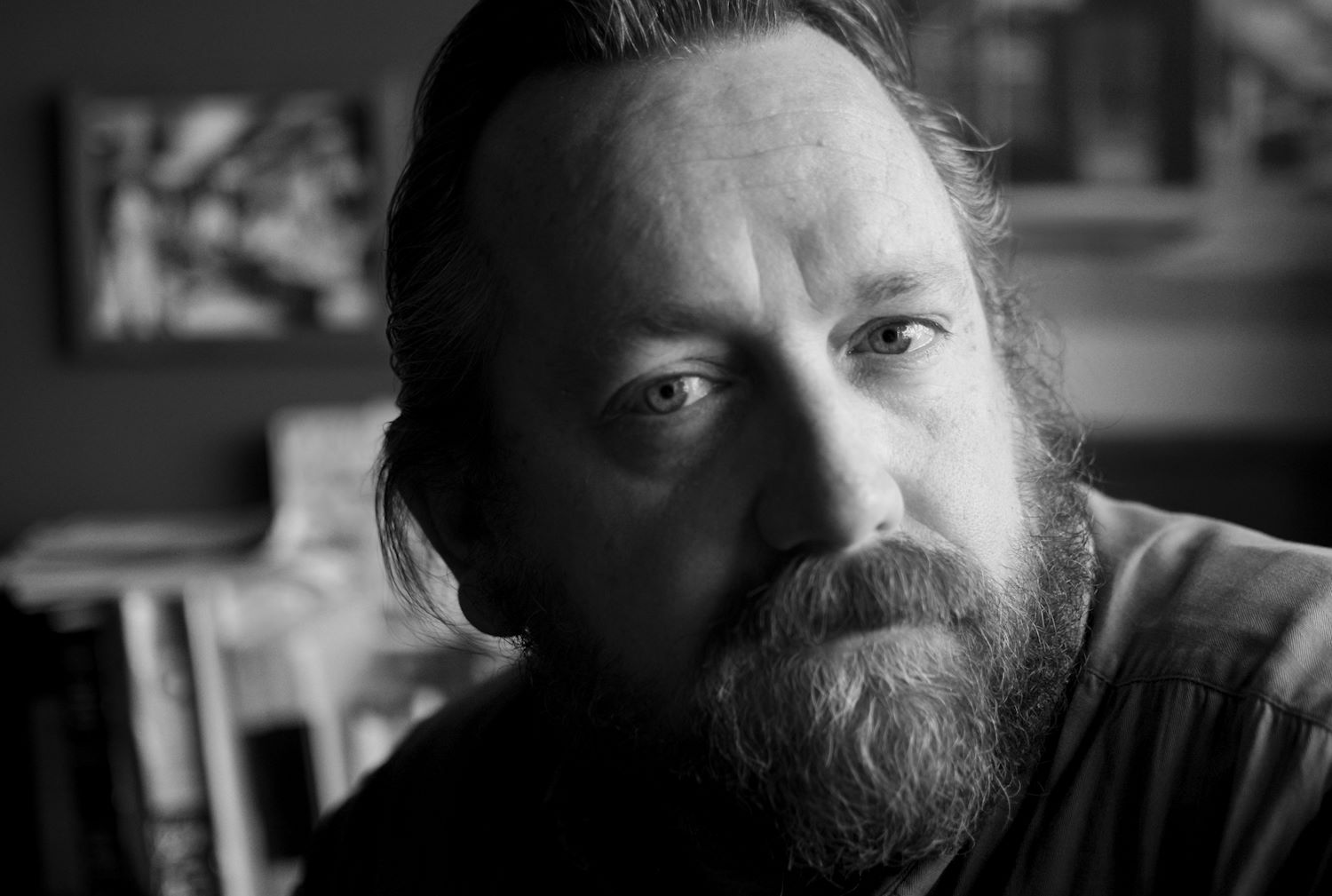 black and white portrait of filmmaker Richard Dutcher