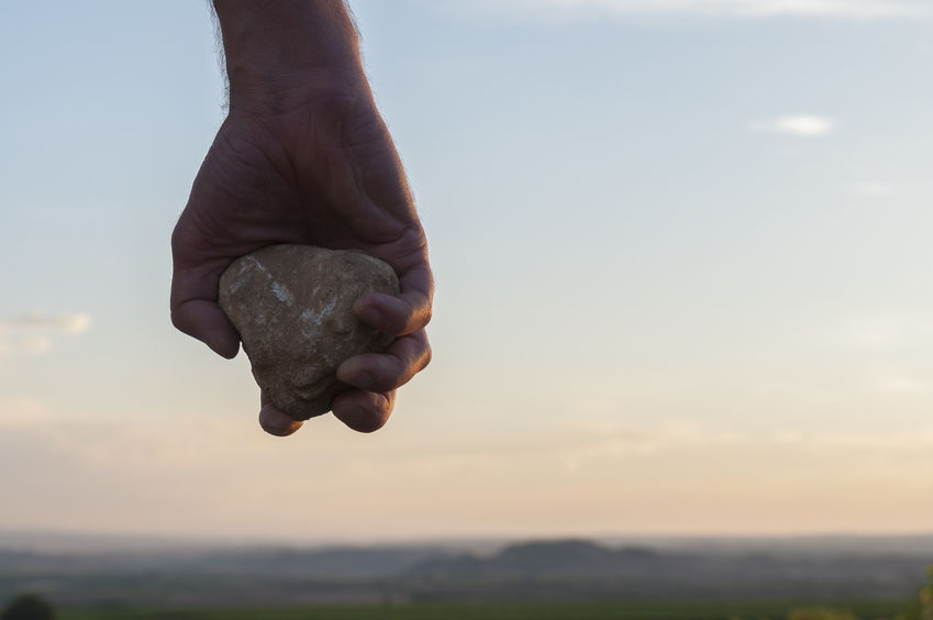 Drop—the Stone!