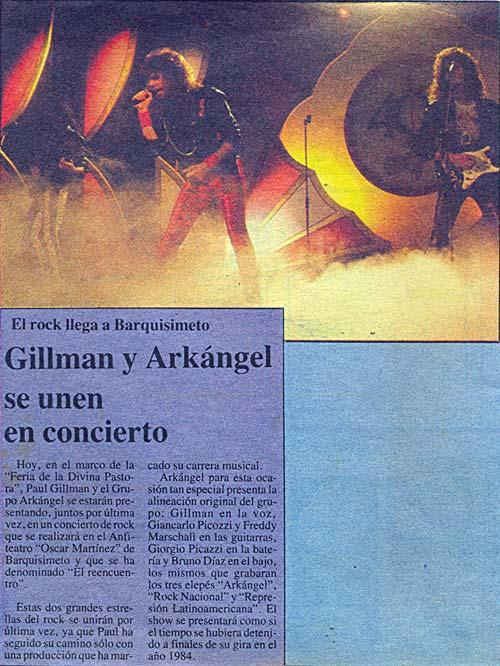 Reportaje Paul Gillman y Arkangel