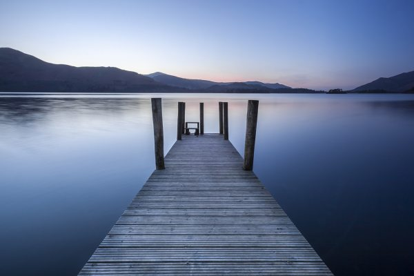 Ashness Jetty Derwentwater Colour Photographic Print. Lake District Landscapes Ashness Jetty