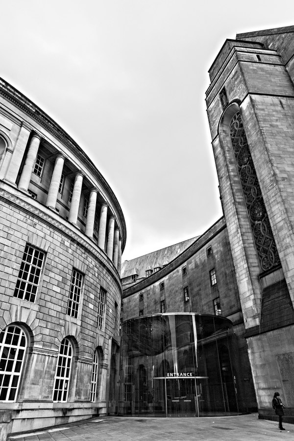 Manchester Central Library, Black & White Photographic Print Manchester Landscapes Architecture
