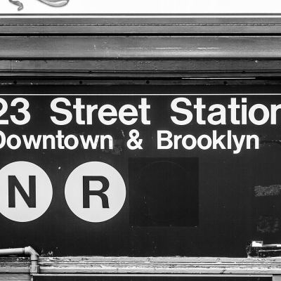 Downtown and Brooklyn, New York Black and White Photo New York Landscapes Architecture