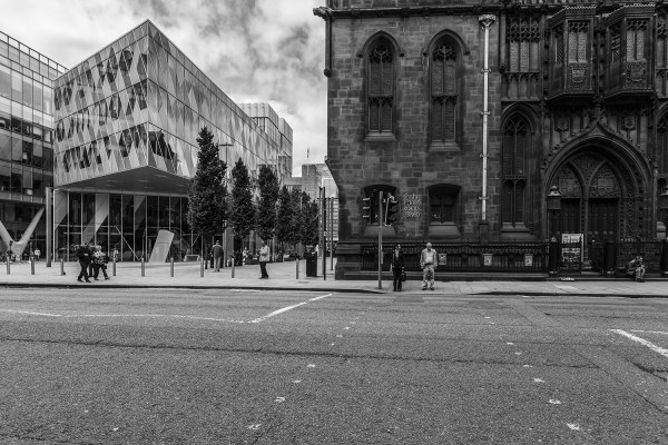 Deansgate John Rylands and Spinningfields Manchester Manchester Landscapes Architecture
