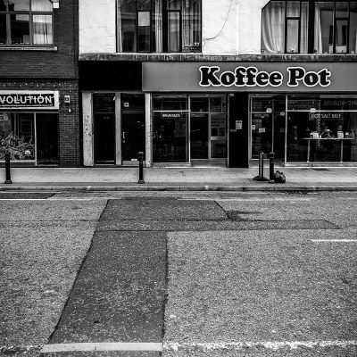 Koffee Pot, Manchester Urban Black and White photograph Manchester Landscapes Architecture
