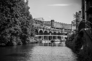 Looking towards Castlefield Manchester Black and White Landscape Manchester Landscapes Architecture