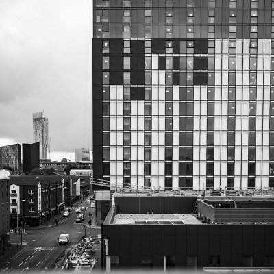 The University of Manchester Skyline Black & White Manchester Landscapes Architecture