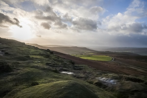 Morning Light In The Peak District, Stanage Edge Peak District Landscapes Clouds